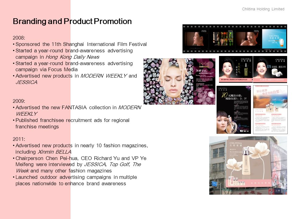 Branding and Product Promotion