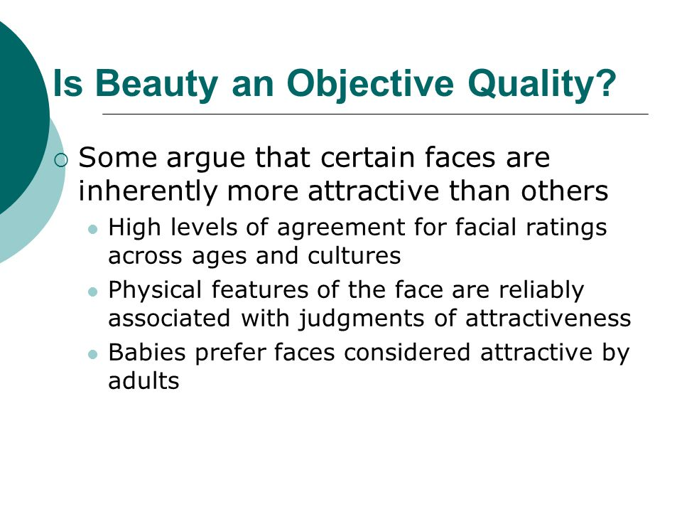 Is Beauty an Objective Quality