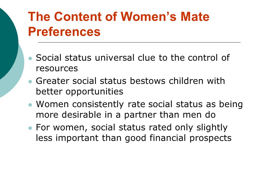 The Content of Women's Mate Preferences