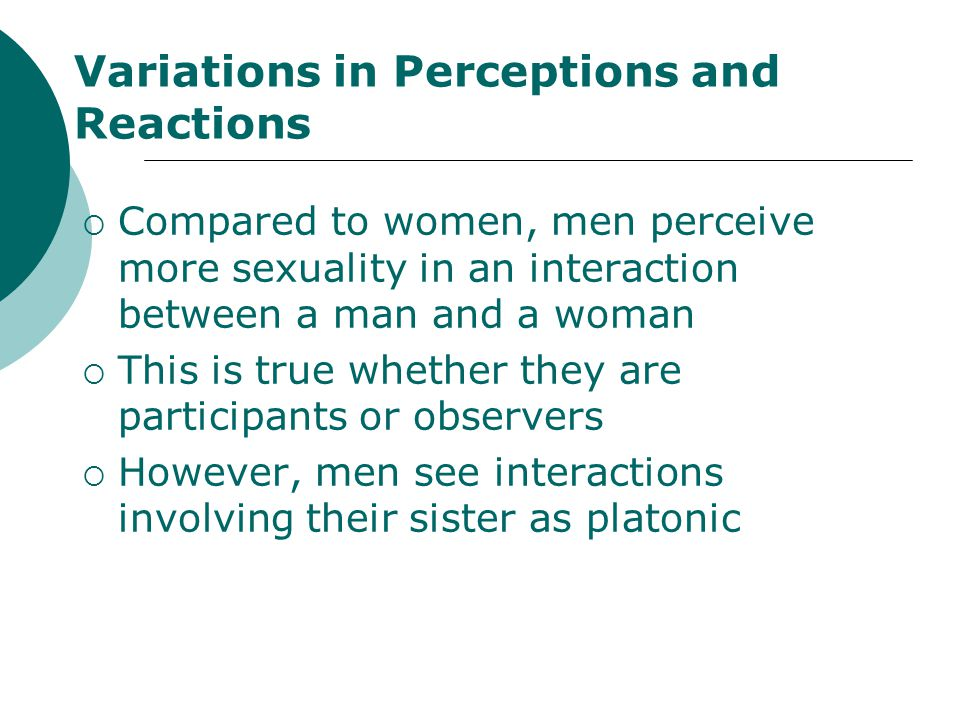 Variations in Perceptions and Reactions