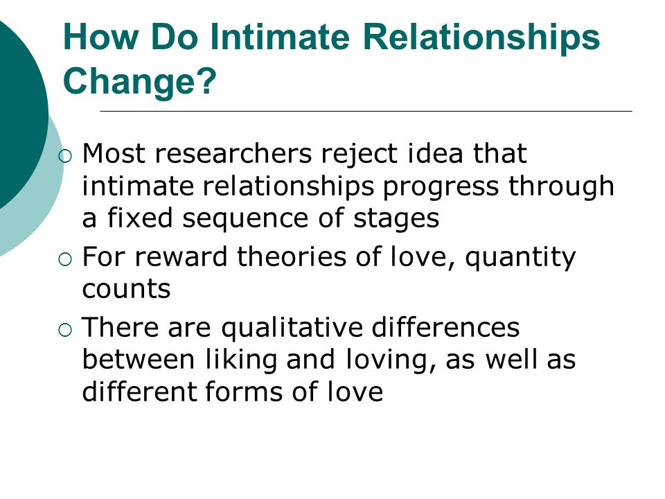 How Do Intimate Relationships Change
