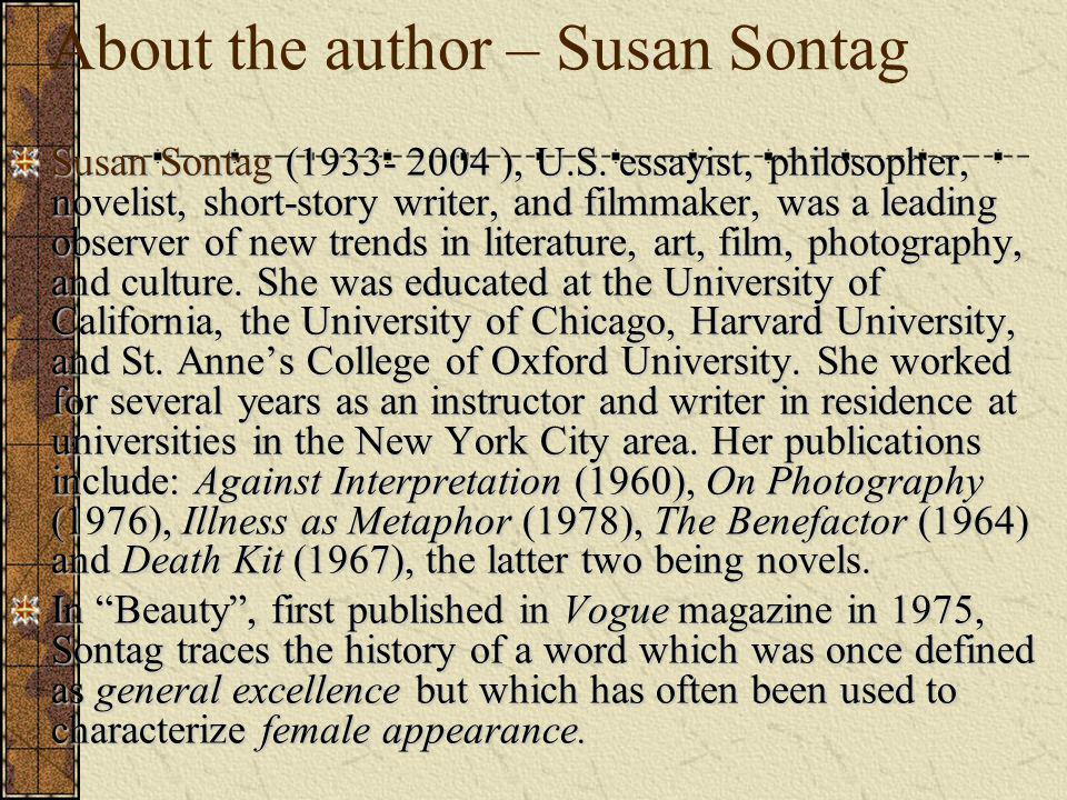 About the author – Susan Sontag