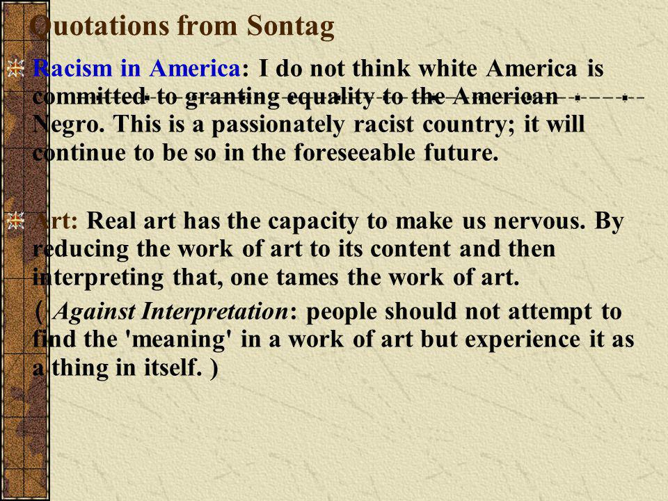 Quotations from Sontag