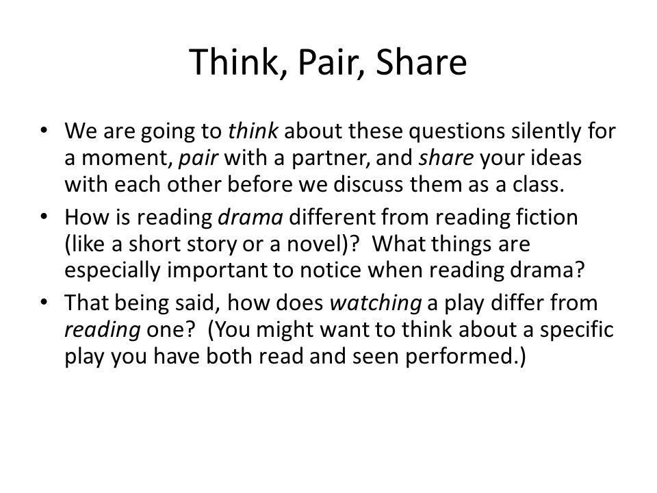 Think, Pair, Share
