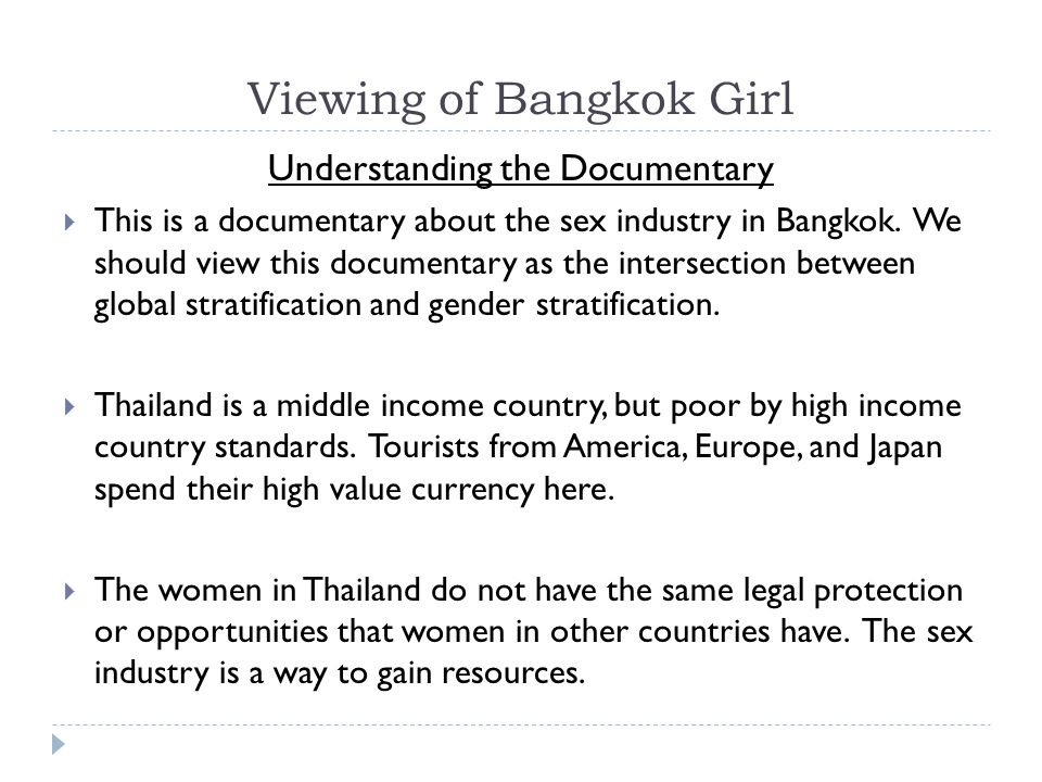 Viewing of Bangkok Girl