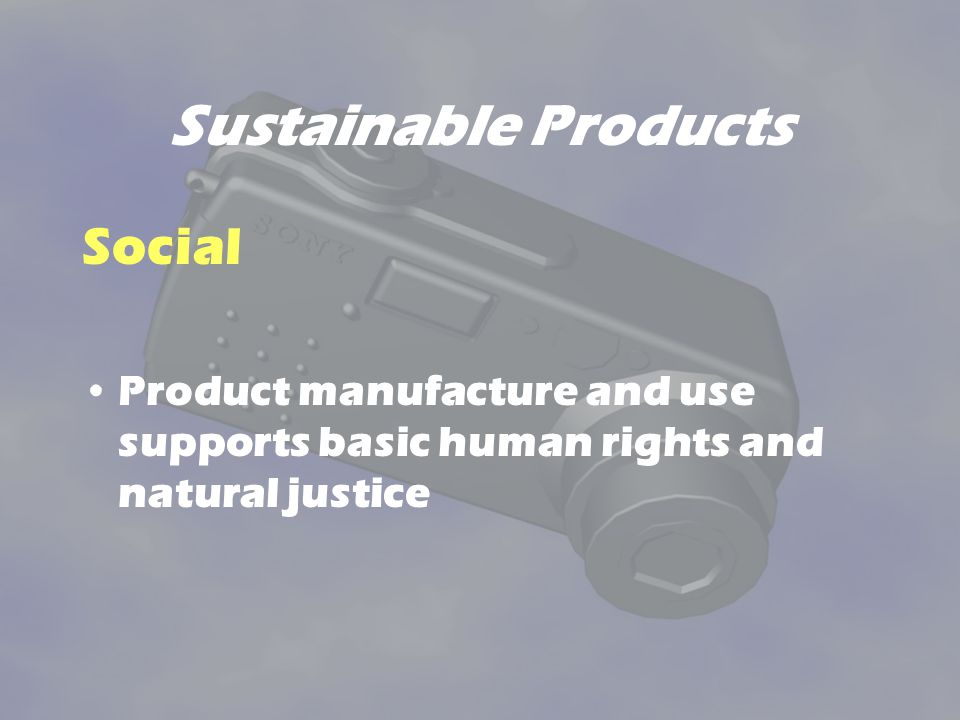 Sustainable Products Social