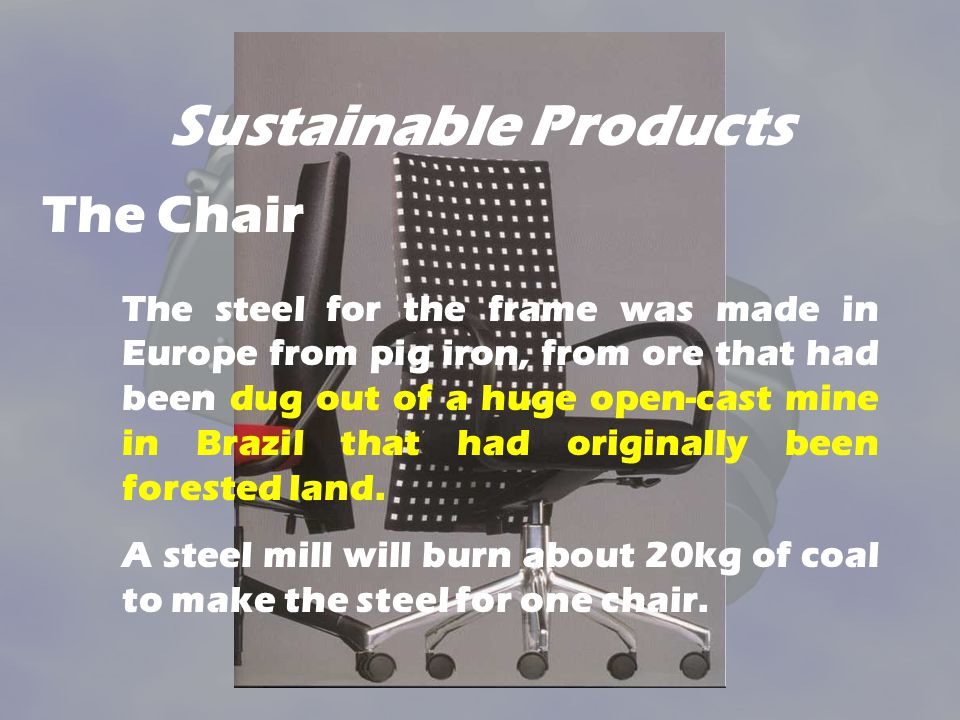 Sustainable Products The Chair