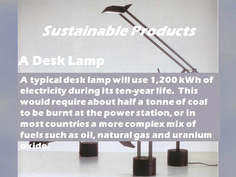 Sustainable Products A Desk Lamp.
