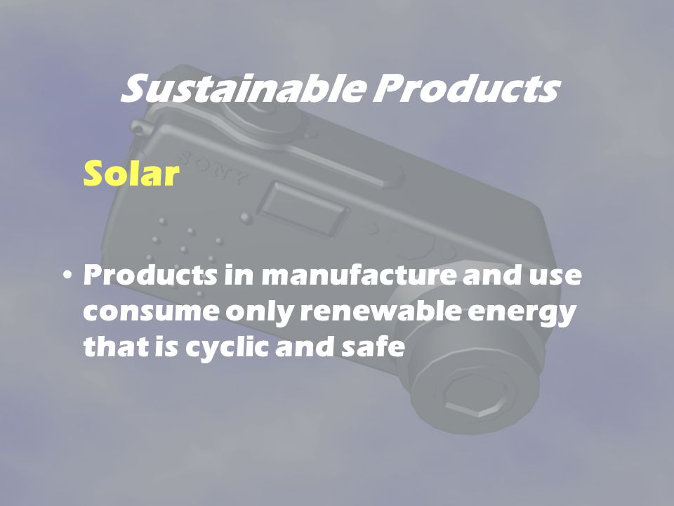 Sustainable Products Solar