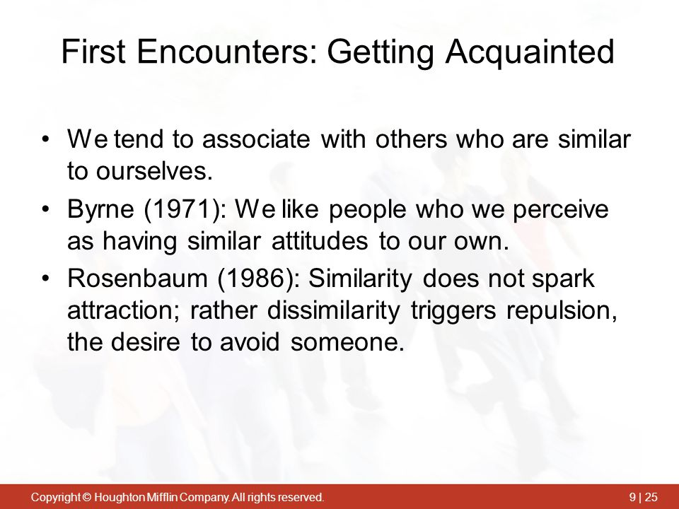 First Encounters: Getting Acquainted