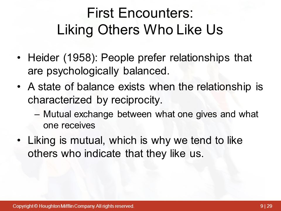 First Encounters: Liking Others Who Like Us