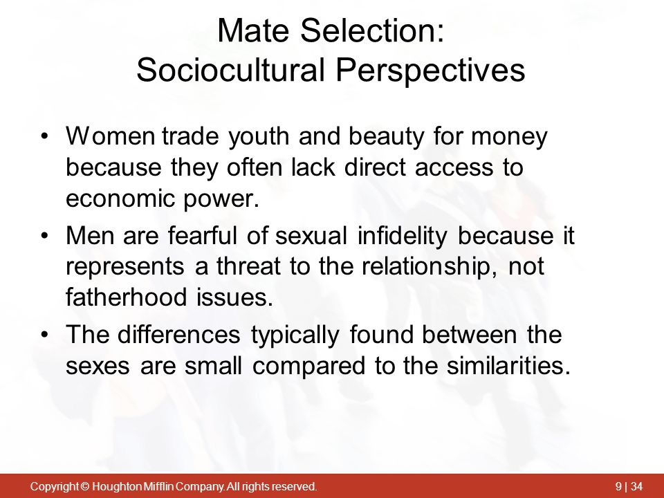 Mate Selection: Sociocultural Perspectives
