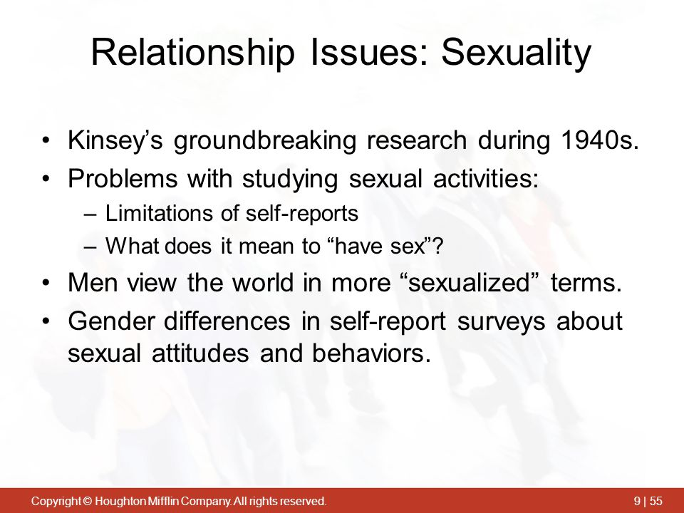 Relationship Issues: Sexuality
