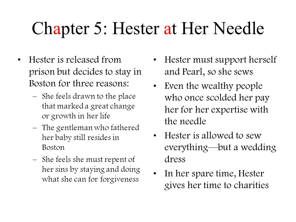Chapter 5: Hester at Her Needle