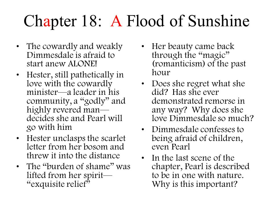 Chapter 18: A Flood of Sunshine