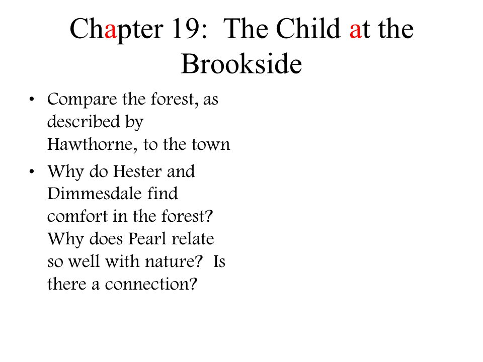 Chapter 19: The Child at the Brookside