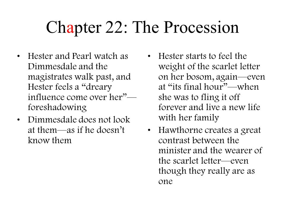 where does the scarlet letter take place by nathaniel hawthorne ppt 25630 | Chapter 22: The Procession