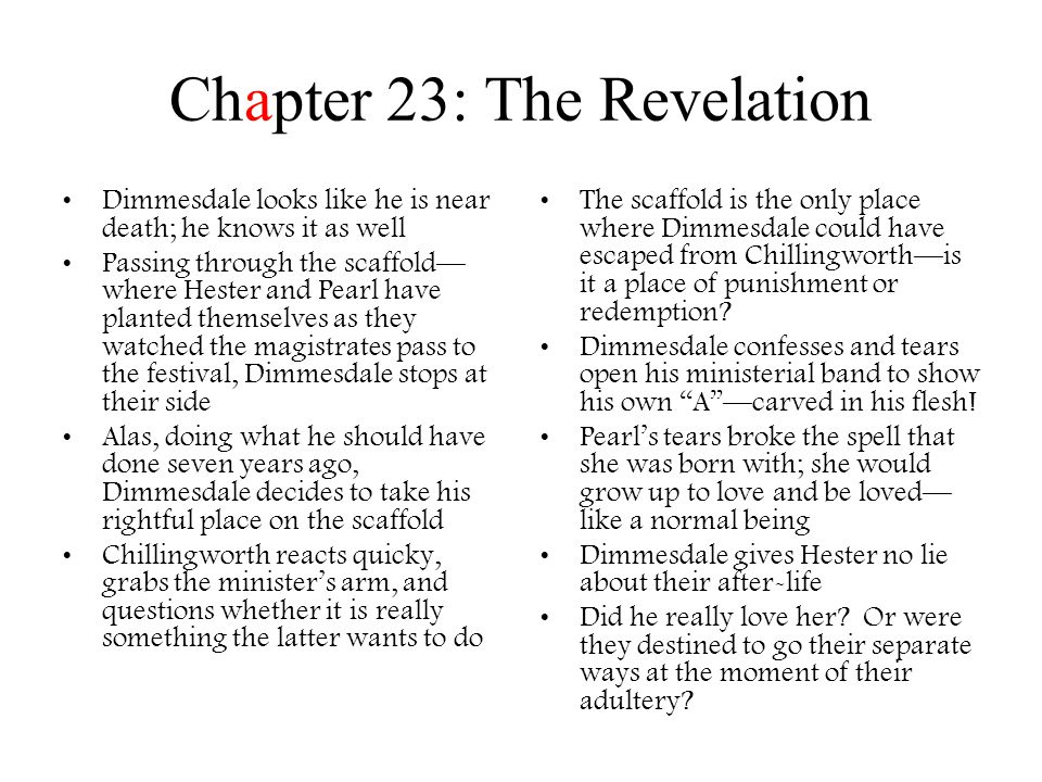 Chapter 23: The Revelation