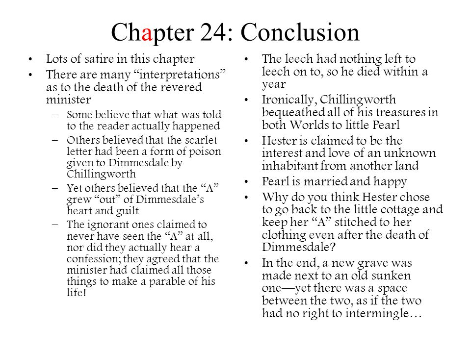 Chapter 24: Conclusion Lots of satire in this chapter