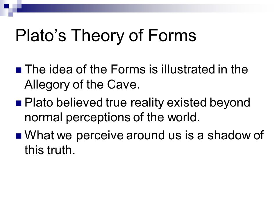 Plato's Theory of Forms