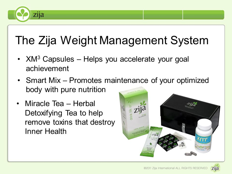 The Zija Weight Management System