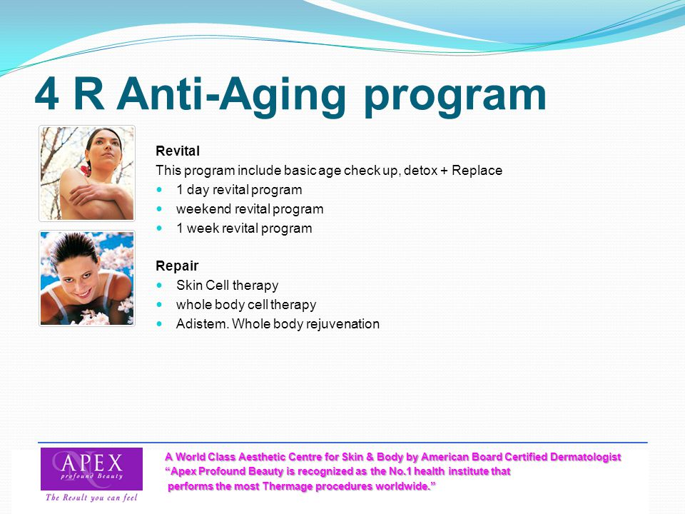 4 R Anti-Aging program Revital