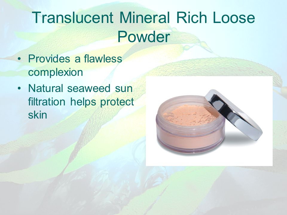 Translucent Mineral Rich Loose Powder