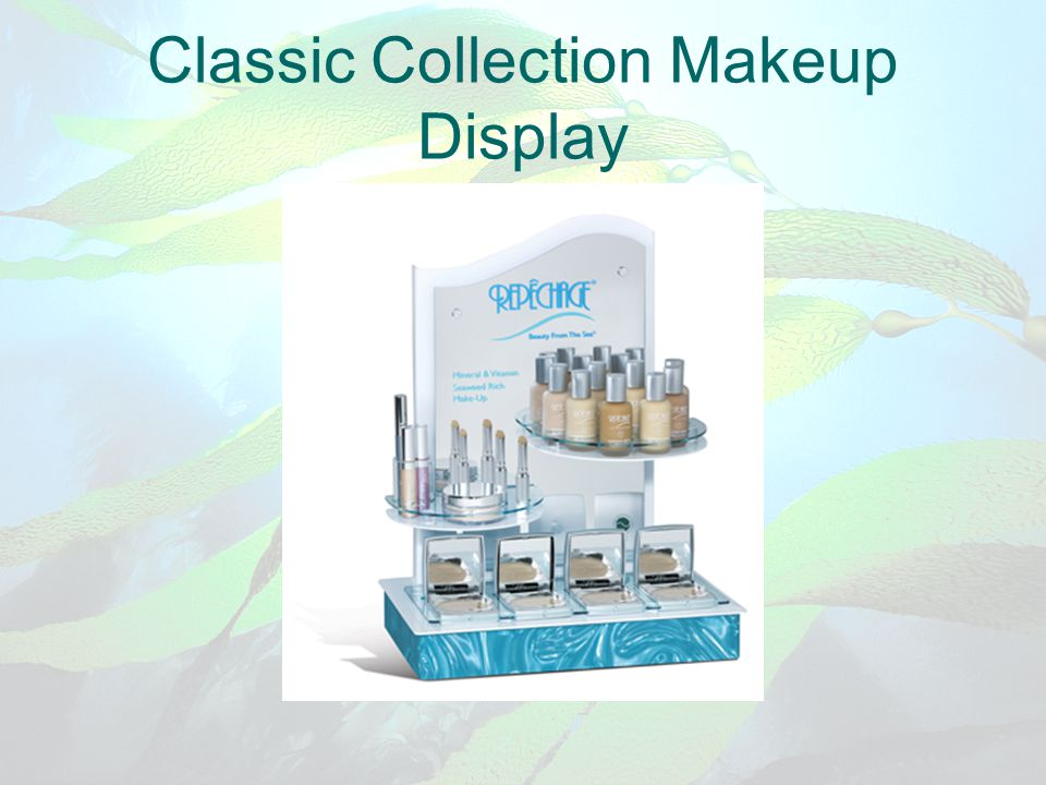 Classic Collection Makeup Display
