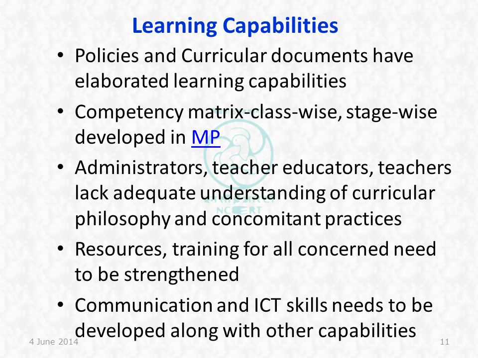 Learning Capabilities