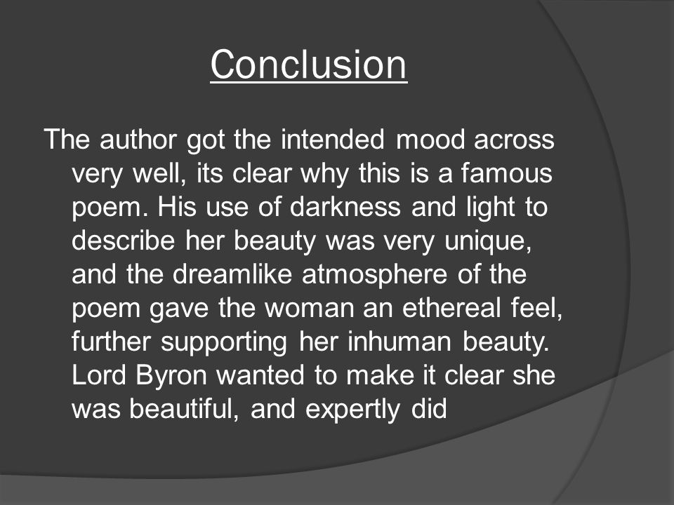 She Walks In Beauty By Lord Byron Ppt Video Online Download