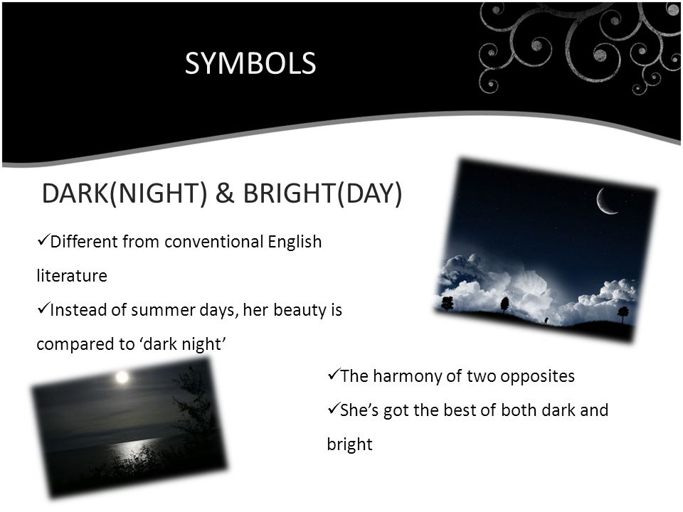 SYMBOLS DARK(NIGHT) & BRIGHT(DAY)
