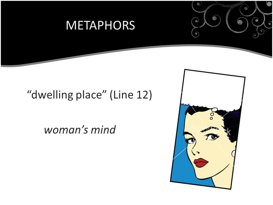 METAPHORS dwelling place (Line 12) woman's mind