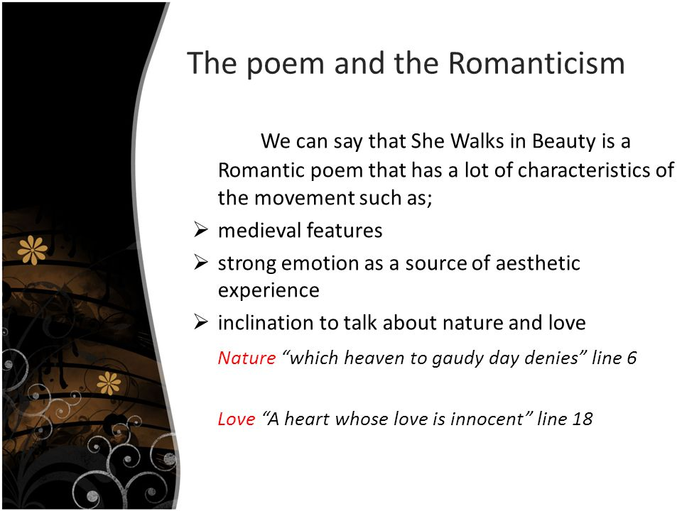 The poem and the Romanticism