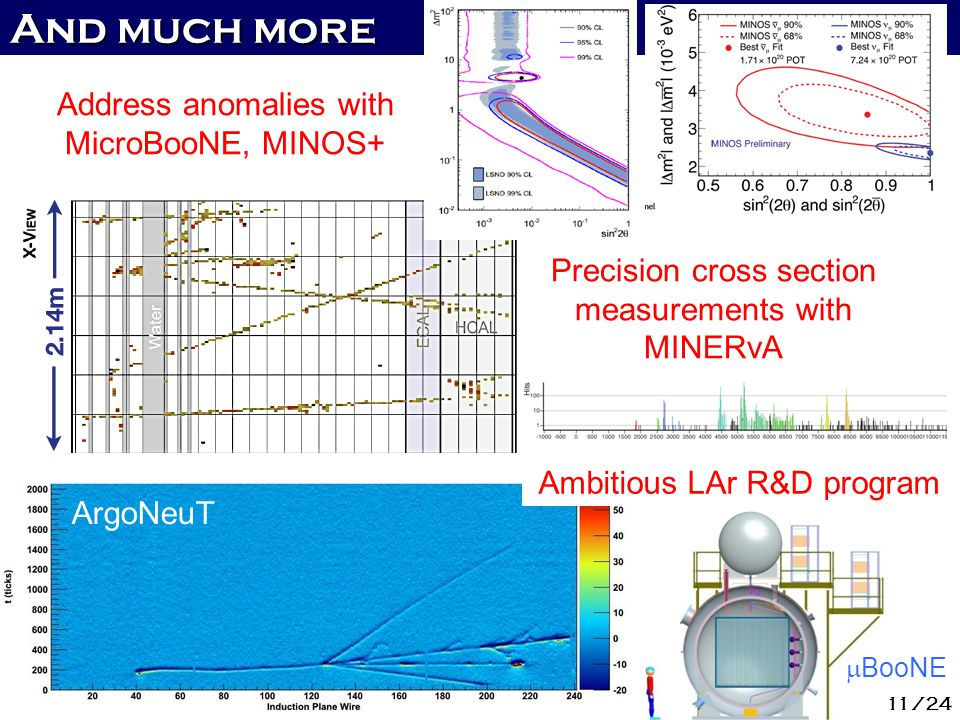 And much more Address anomalies with MicroBooNE, MINOS+