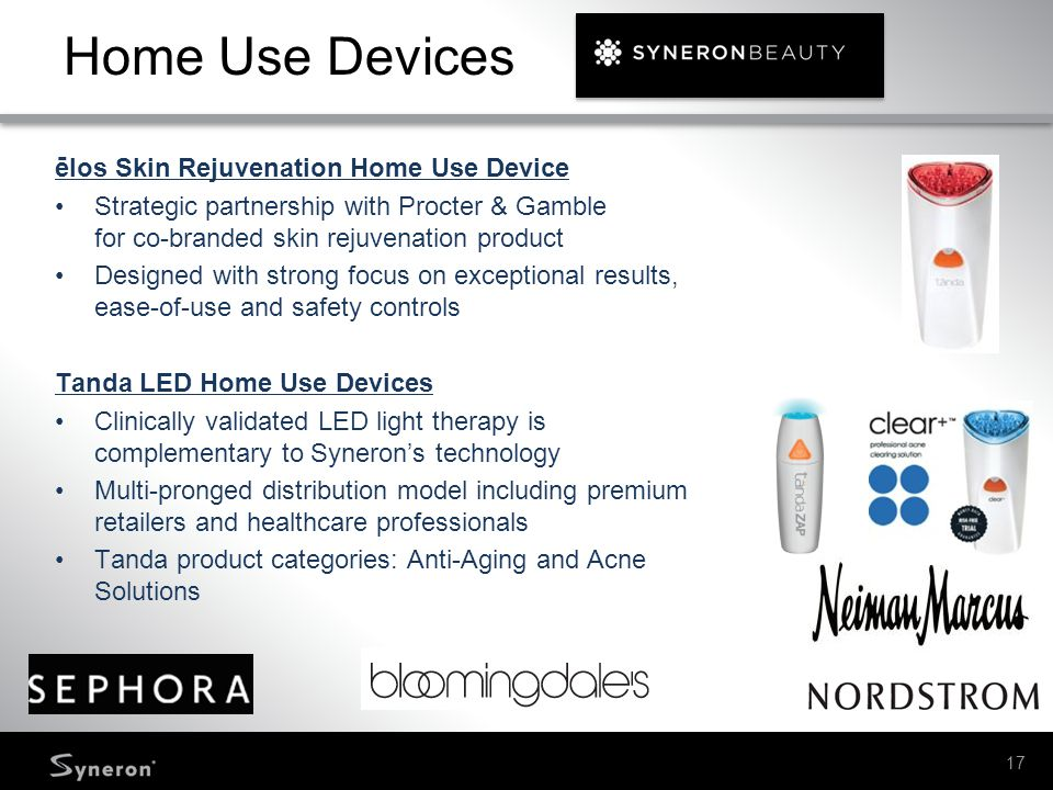 Home Use Devices ēlos Skin Rejuvenation Home Use Device