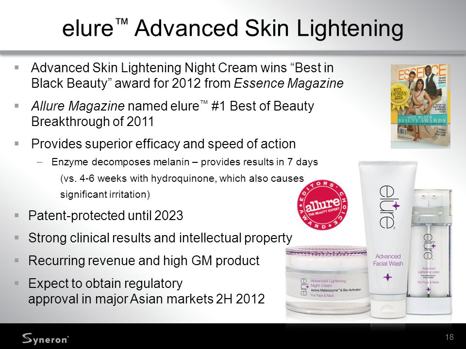 elure™ Advanced Skin Lightening