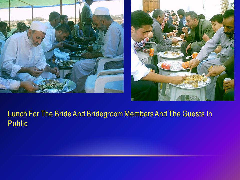 Lunch For The Bride And Bridegroom Members And The Guests In Public