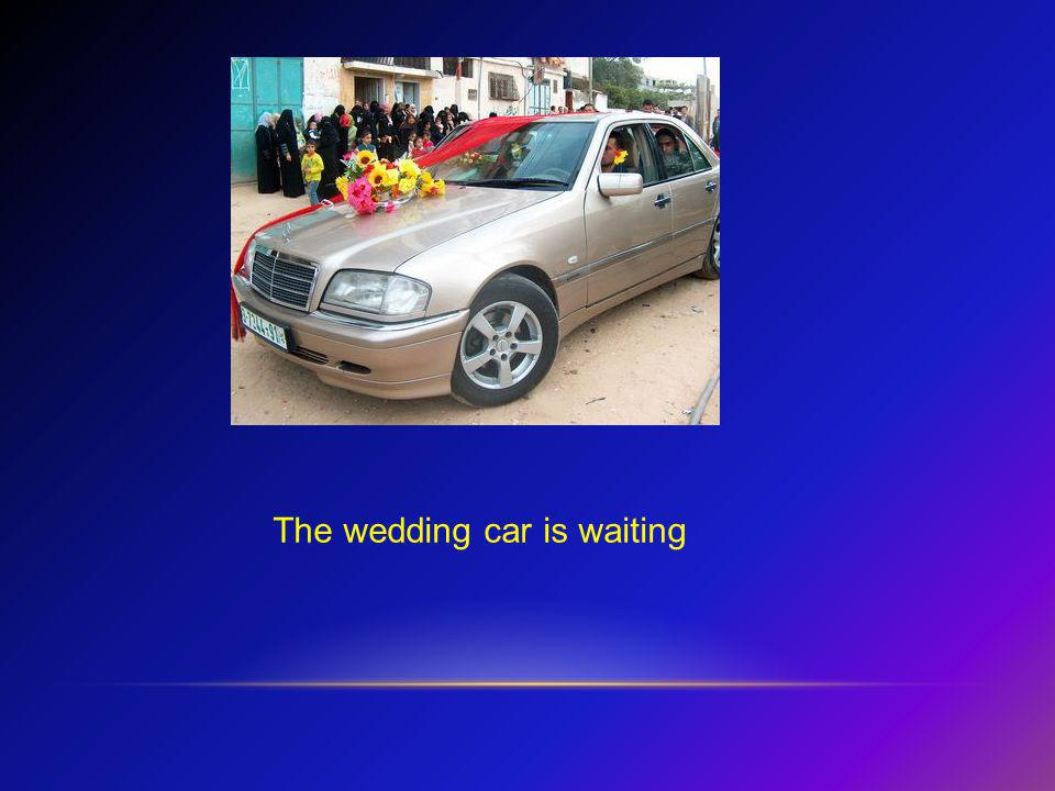 The wedding car is waiting