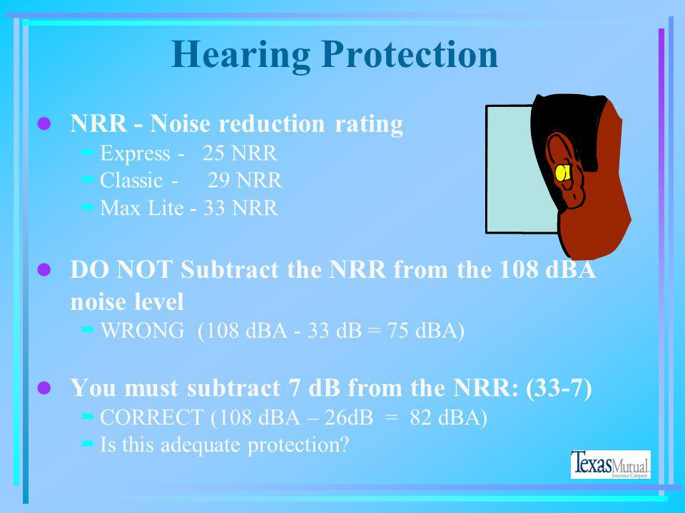 Hearing Protection NRR - Noise reduction rating