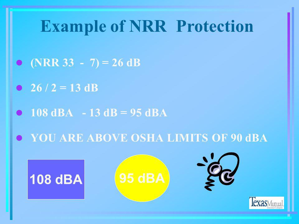 Example of NRR Protection