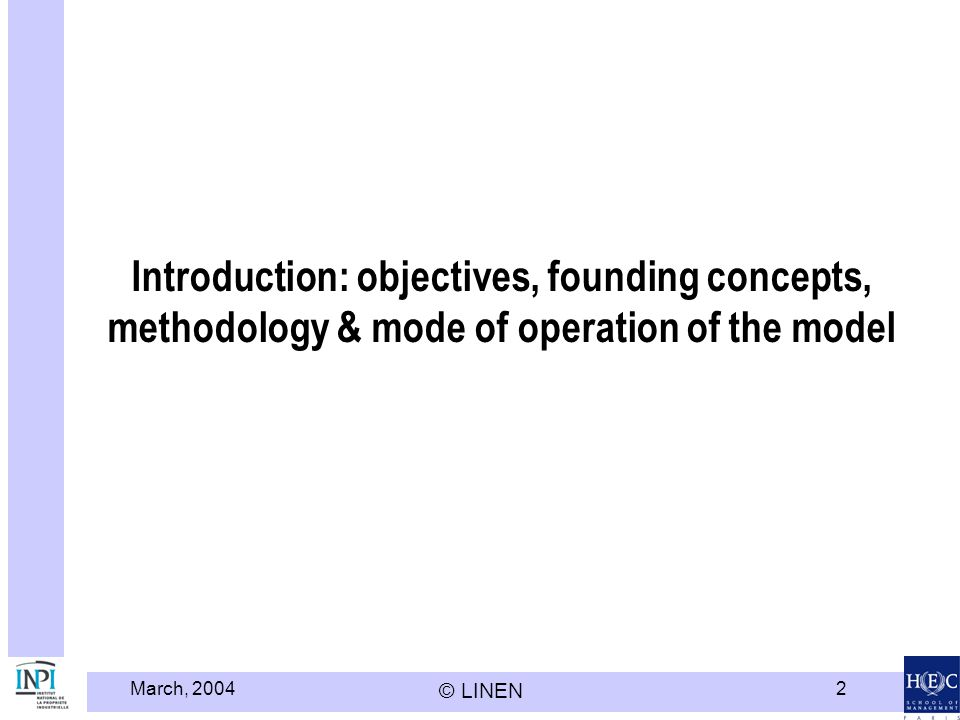 Introduction: objectives, founding concepts, methodology & mode of operation of the model