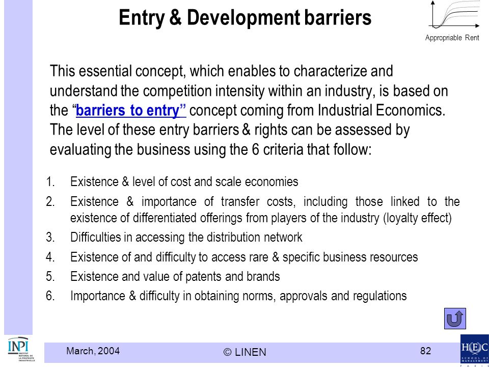 Entry & Development barriers