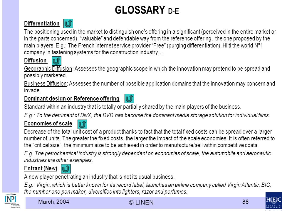 GLOSSARY D-E Differentiation