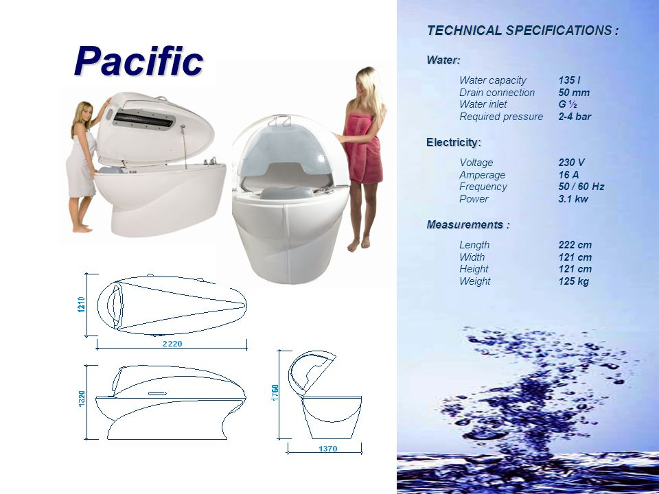 Pacific TECHNICAL SPECIFICATIONS : Water: Electricity: Measurements :