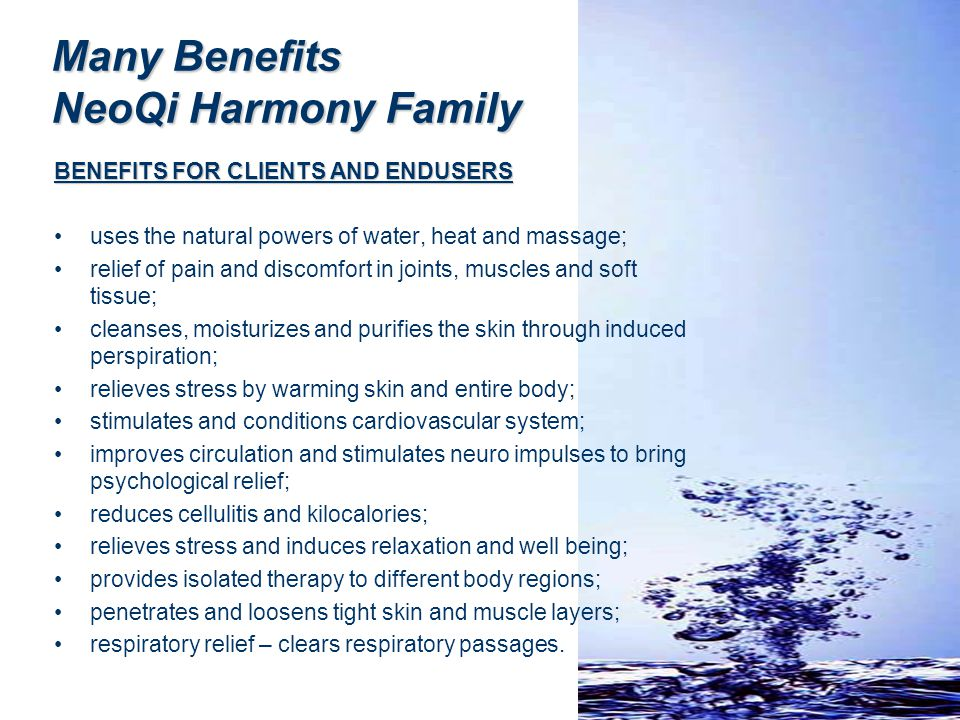 Many Benefits NeoQi Harmony Family