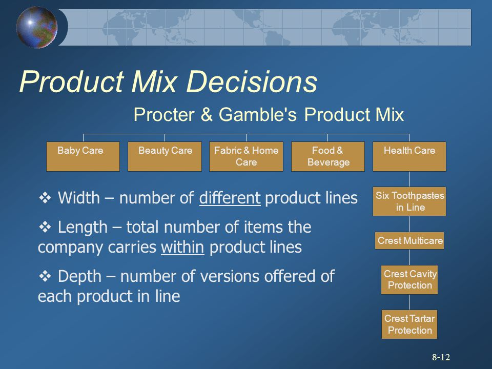 Procter & Gamble s Product Mix