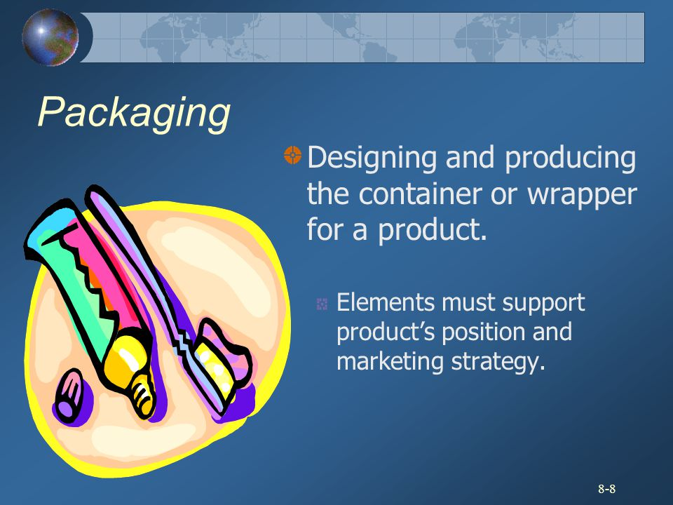 Packaging Designing and producing the container or wrapper for a product.