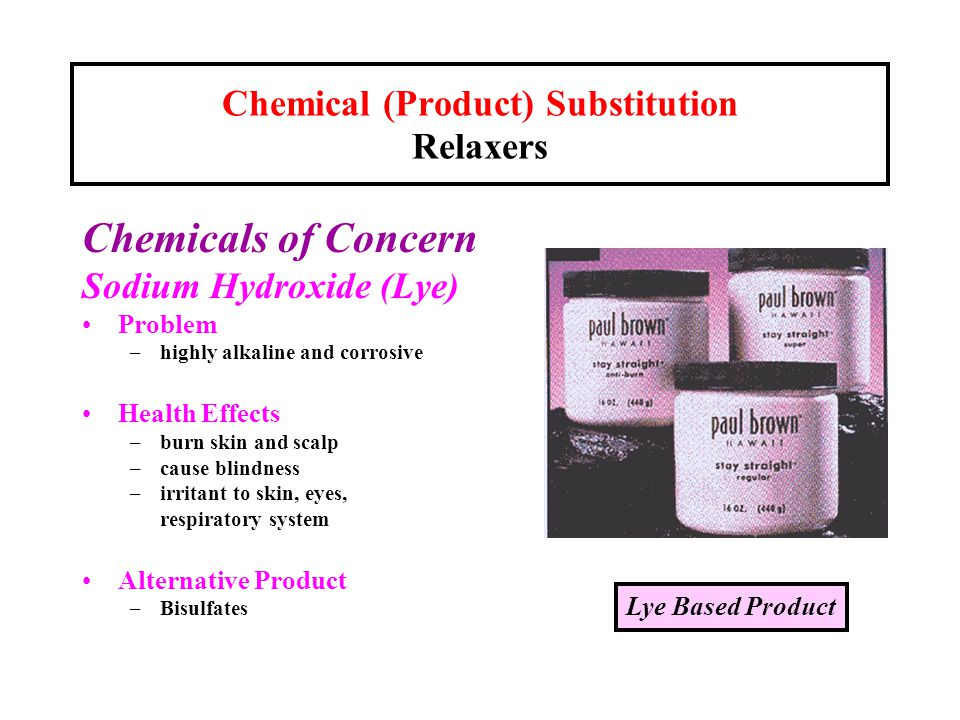 Chemical (Product) Substitution Relaxers