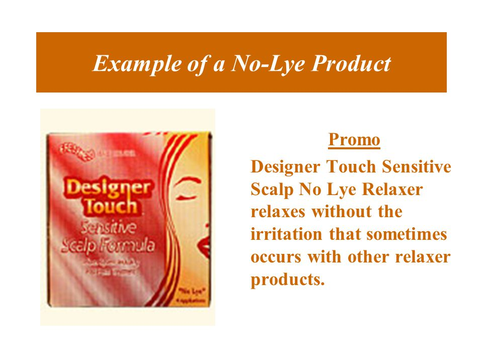 Example of a No-Lye Product