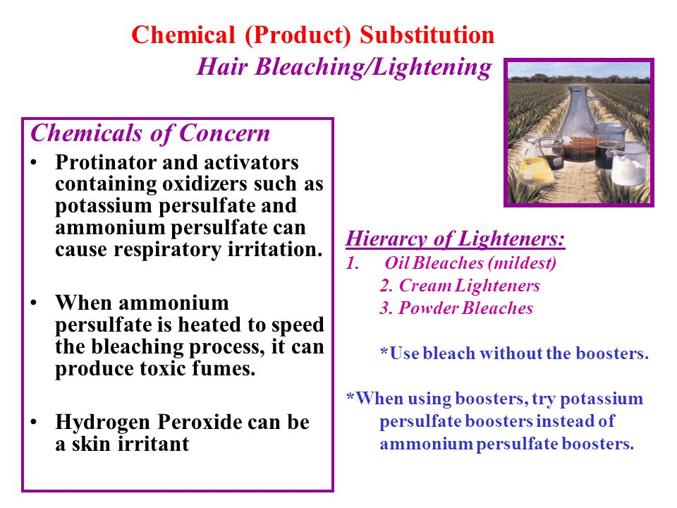 Chemical (Product) Substitution Hair Bleaching/Lightening